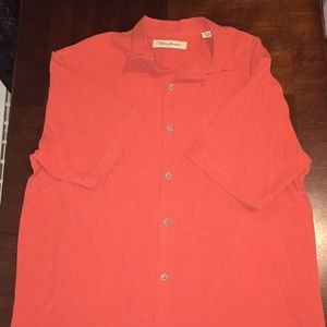 100% Silk Tommy Bahama Button-Down